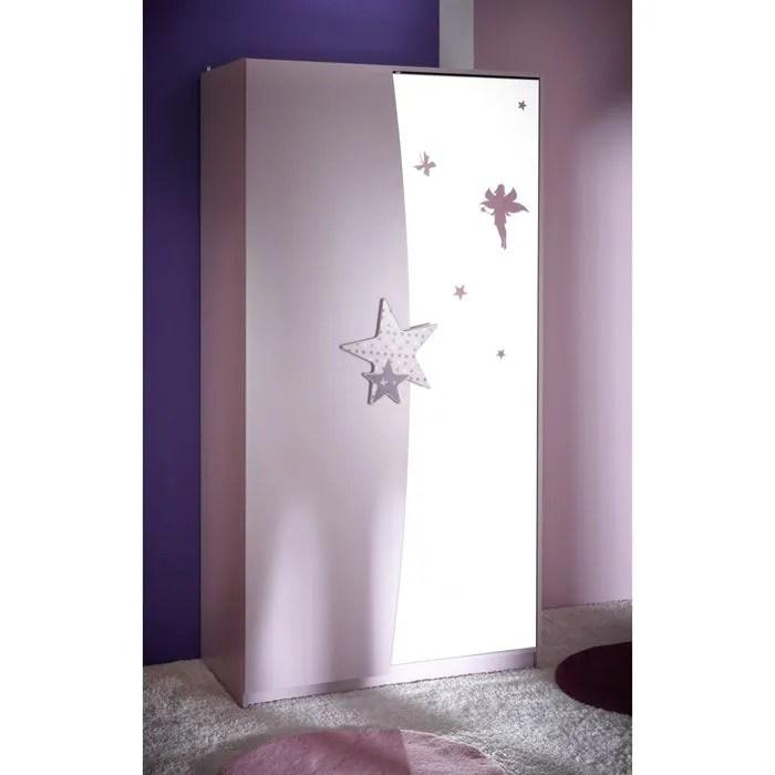 FAIRY Armoire 2 Portes Miroir Achat Vente Armoire De