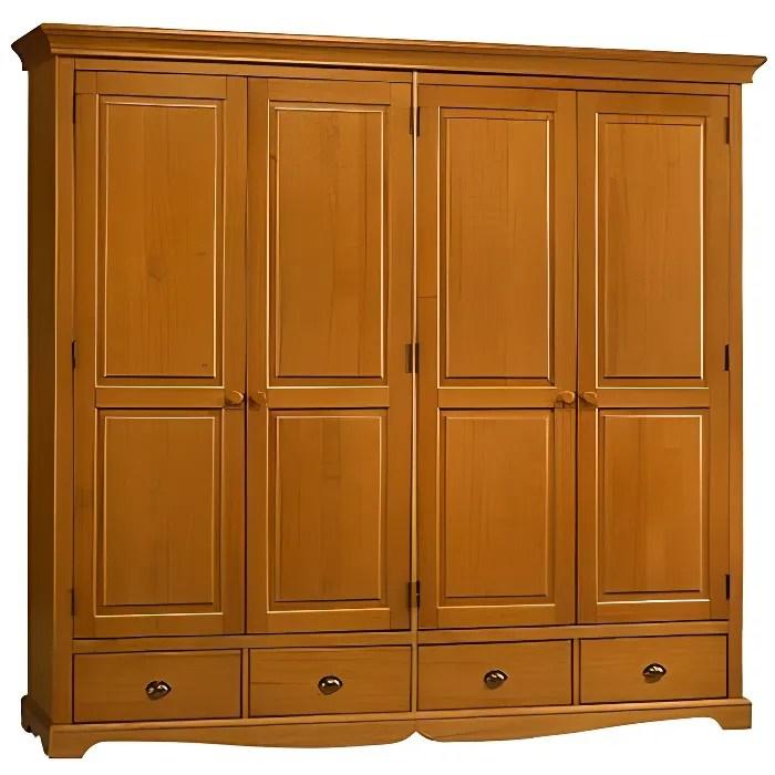 grande armoire penderie pin miel de style anglais