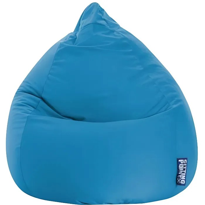 pouf poire easy xl bleu by sittingpoint