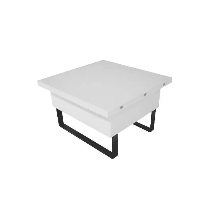 Table Basse Relevable Gloria Laque Blanc
