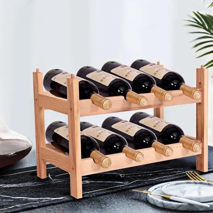 Porte Bouteille De Vin Casier Vin En Bois Debout 8