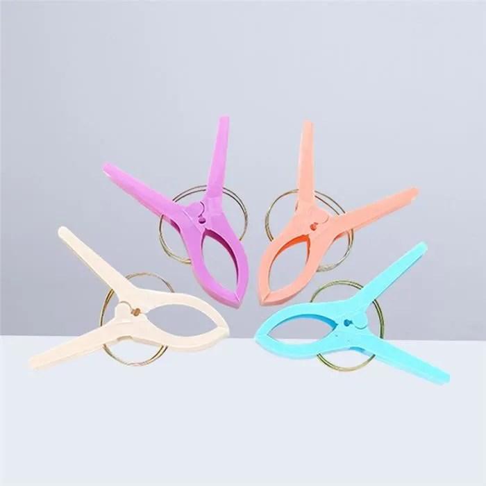 4 pcs plage serviette clips quilt suspendue support de pince pour chaise de plage chaise transats couleur aleatoire