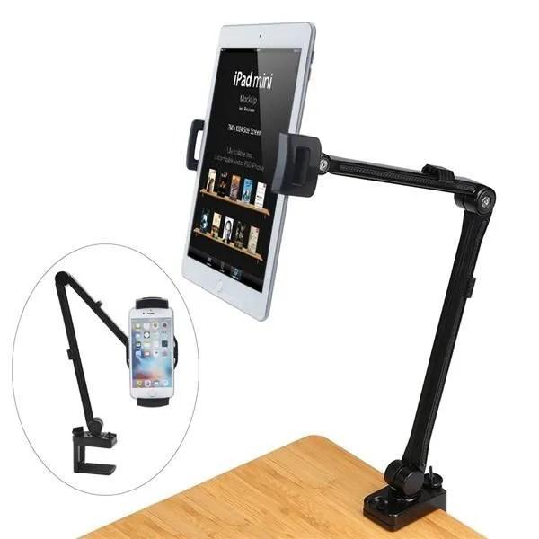 mayoga support tablette ipad support de bureau bras en aluminium robuste ajustable pour tablette de 4 a 10 5 pouces apple ipad