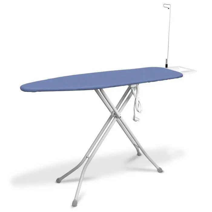 table a repasser avec repose fer et prise electrique i stick 138x38cm lila