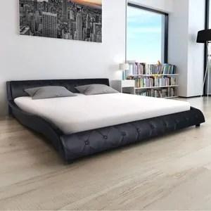 lit complet cadre de lit 140 x 200 cm lit adulte cuir artific