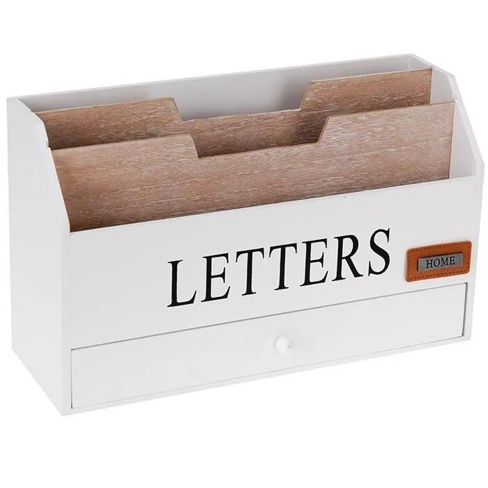 Organiseur Range Courrier Bureau Rangement Porte Lettres
