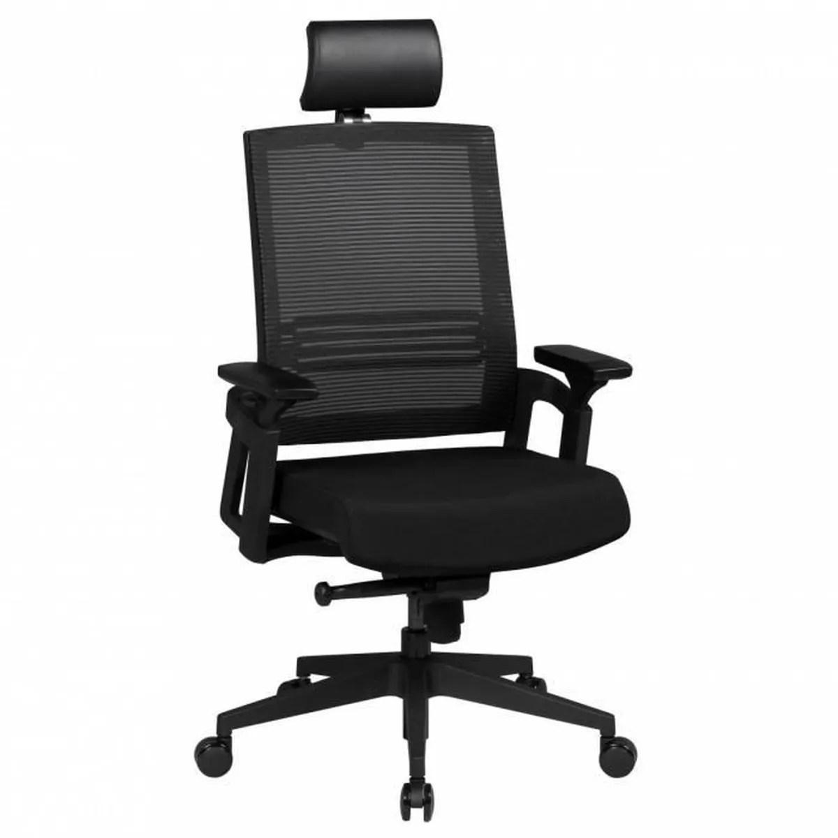 Chaise De Bureau APOLLO A1 Chaise De Bureau En Tissu Noir