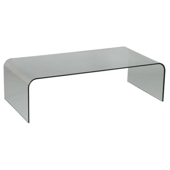 table basse en verre l 140 x l 70 x ht 40 cm