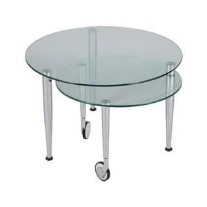 table basse table basse articulee acier verre sur roulettes