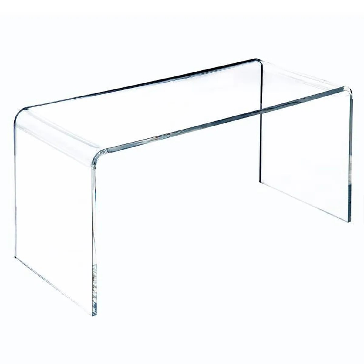 table basse verre acrylique transparent 52