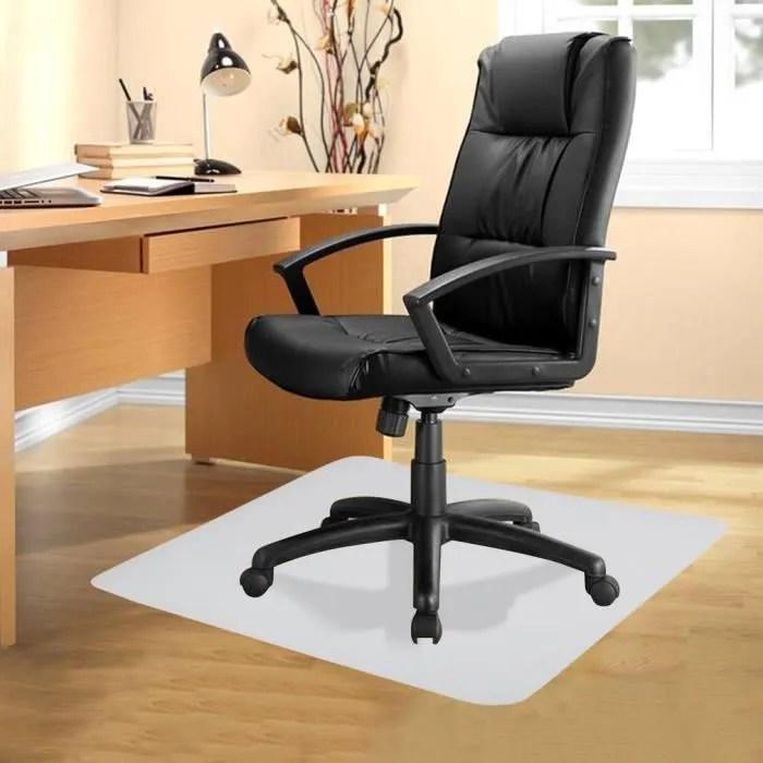 tapis de bureau tapis de protection sol pour chaise fauteuil siege de bureau rectangulaire blanc transparent 75 cm x 120 cm