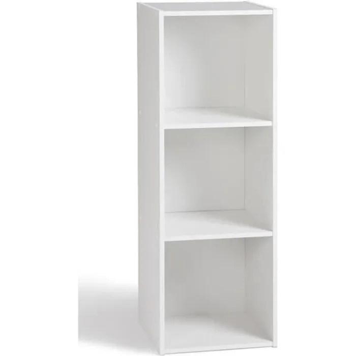 Compo Meuble De Rangement Contemporain Blanc Mat L 31 Cm