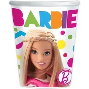 decors de table lot de 8 gobelets barbie deco anniversaire