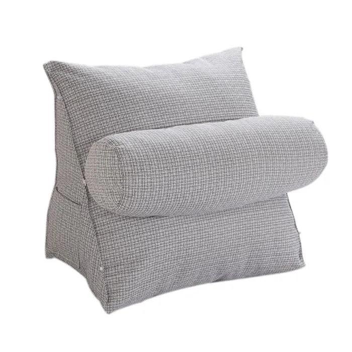 halovie coussin de positionnement triangle support de cou repose en laine pour canape chaise bureau lit gris