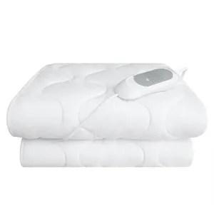 couverture chauffante housse de lit chauffante a lit double blanc