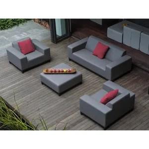 salon de jardin ensemble de jardin canape fauteuil et ottoman