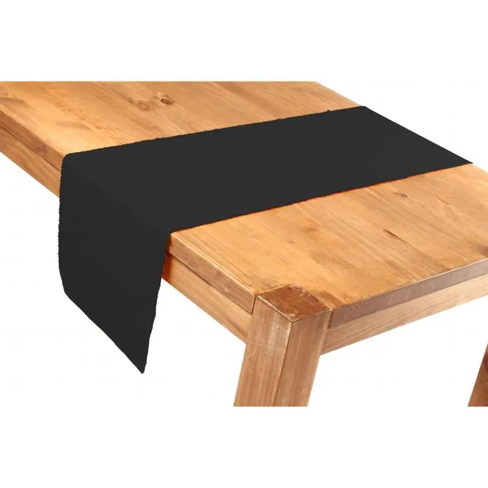 CHEMIN DE TABLE 35X150 NOIR Achat Vente Chemin De