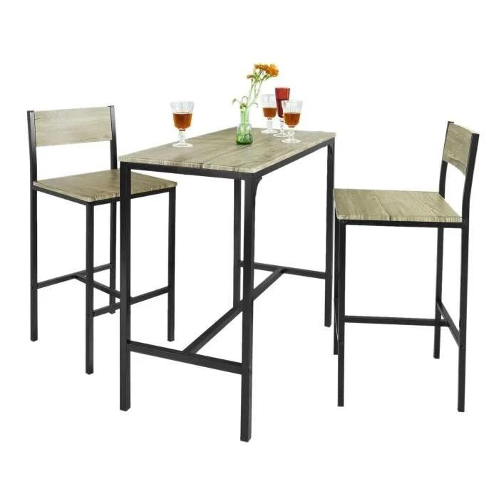 sobuy ogt03 ensemble table de bar 2 chaises set de 1 table 2 chaises table haute cuisine