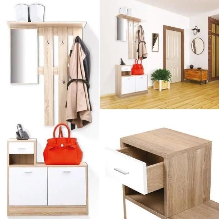 meuble d entree meuble vestiaire d entree portes blanches