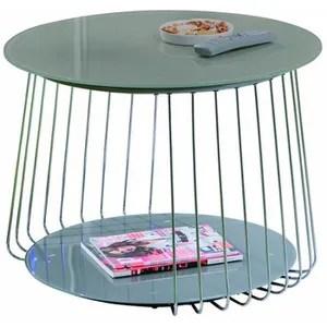 Table Basse Gris Mtal Achat Vente Pas Cher Cdiscount