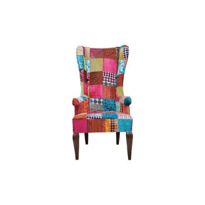 Fauteuil Patchwork Velvet Kare Design Achat Vente