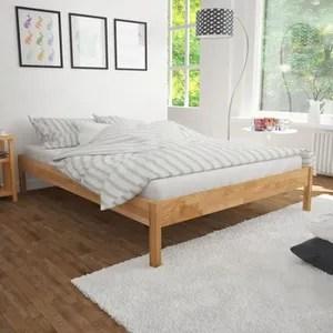 388 59 lit double avec matelas chene massif 180 x 200 cm lit adulte lit enfant lit complet