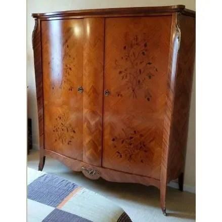 armoire 2 portes en bois de rose
