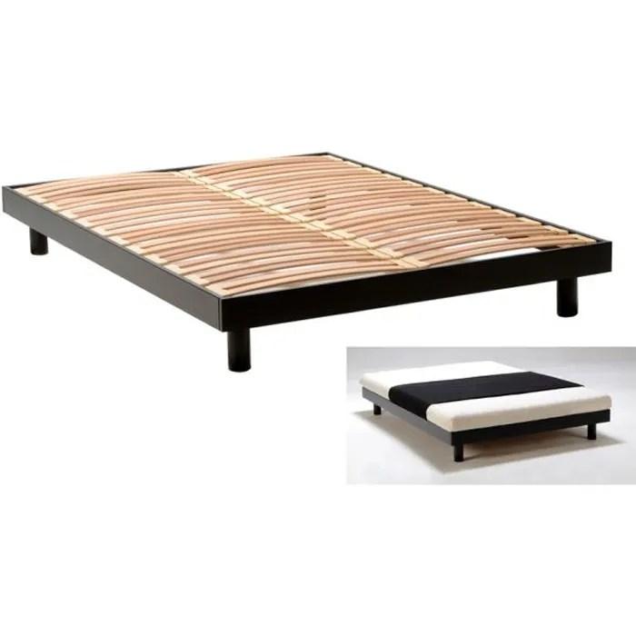 texas cadre de lit noir 140x190