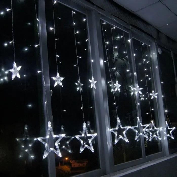 Etoile LED Rideau Lumineuse Guirlande De Nol Dcoration