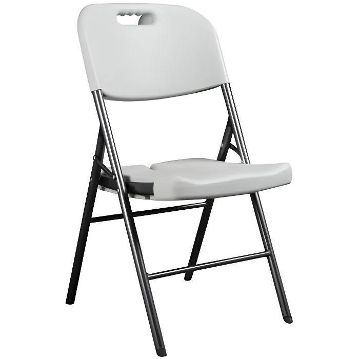 chaise pliante chaise d appoint blanc