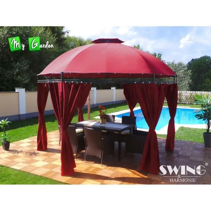 Tonnelle Ronde Pavillon De Jardin Rouge Diam 35m Achat