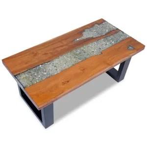 cheap table basse magnifique table basse teck resine x cm with table bois resine