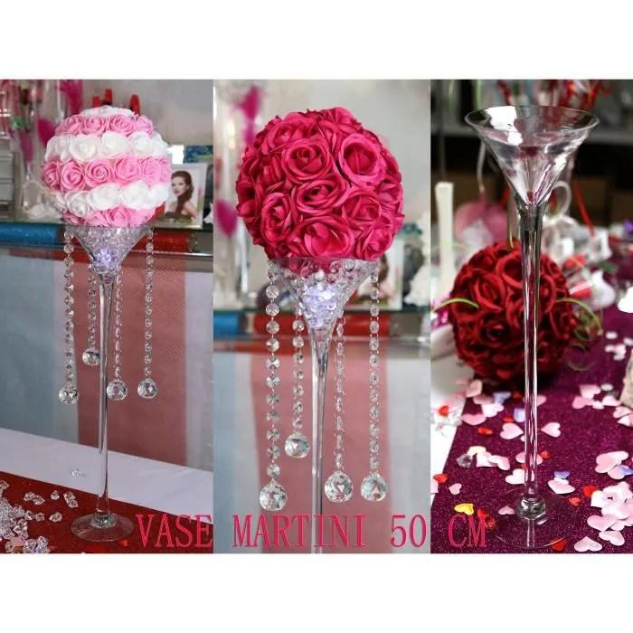 Beautiful Vase Martini Cm Dcoration Mariage Centre Table