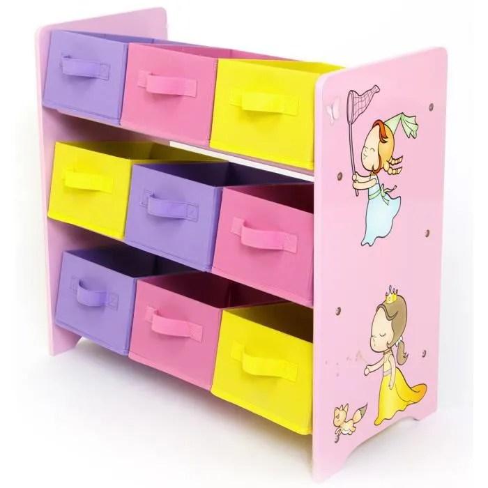 meuble de rangement pour enfant motif princesse