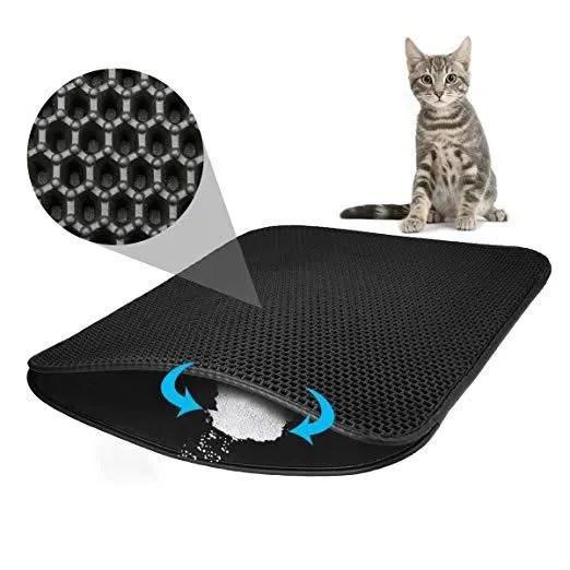 maison de toilette tapis de litiere pour chat etanche double couche n