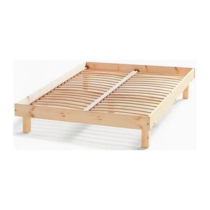 cadre de lit en bois 2 places galaxy