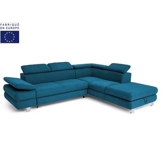 Canape Bleu Convertible Maison Design