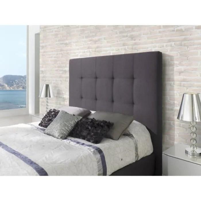 tete de lit kilima en tissu gris anthracite pour lit queen size l 182 x h 153
