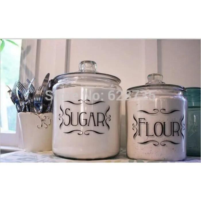 cuisine etiquettes ensemble de 4 cuisine pot bidon vinyle etiquettes pour maisonorganisation stickers muraux cuisine maison decor