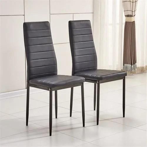 Affordable Pcs Chaise En Faux Cuire Xxcm Pour Table With