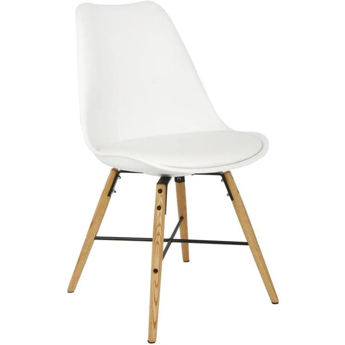 chaise chaise scandinave avec coussin integre bingo lot