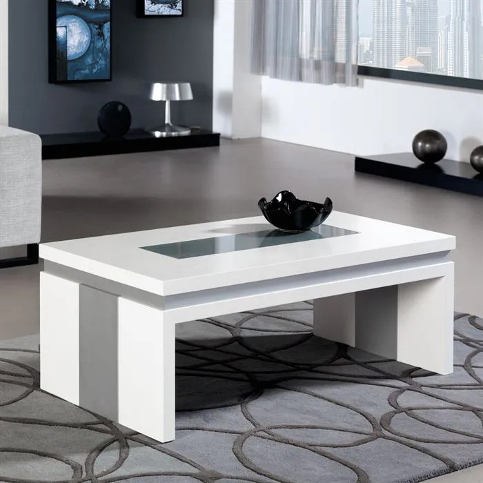 Table Basse Relevable Concetto En Laque Blanc Achat