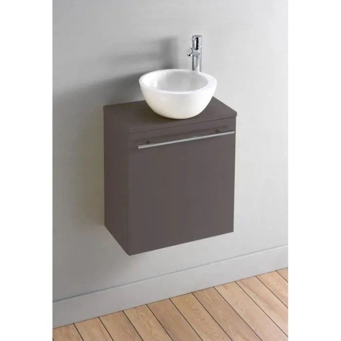 Pack Meuble Lave Mains Florence Taupe Design Achat
