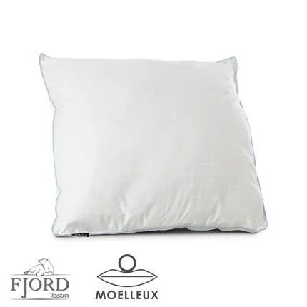 oreiller extra plat en flocons 100 polyester