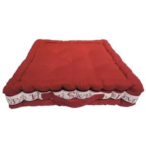 soleil d ocre coussin de sol capitonne sweet home 100 coton 40x40x8 cm rouge