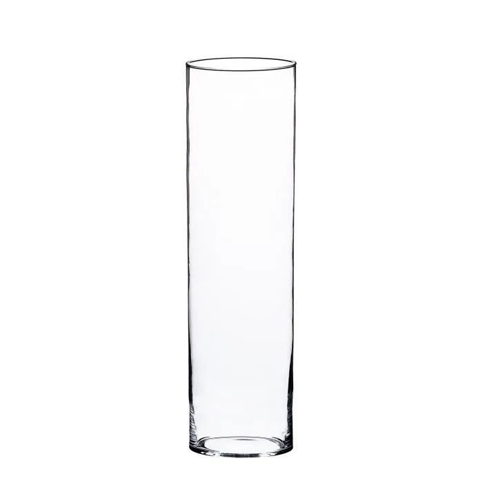vase en verre cylindrique sansa transparent 60 cm o 19 cm vase tube grand vase transparent inna glas