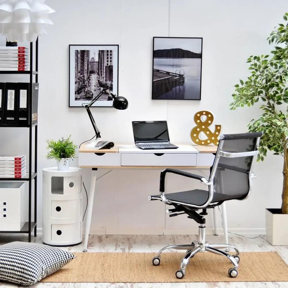 bureau scandinave bureau design visby 120 cm