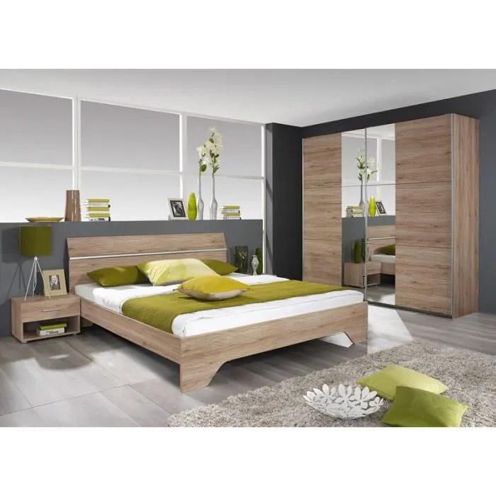 chambre a coucher complete adulte couleur chene armoire avec porte coulissante
