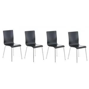 affordable chaise lot de chaises de cuisine en bois noir et mtal with chaise de cuisine en bois