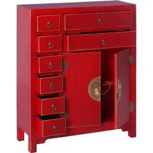 meuble d entree meuble d entree 2 portes 8 tiroirs rouge meuble c